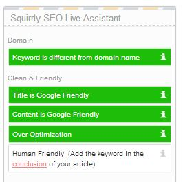 Squirrly the wordpress seo plugin