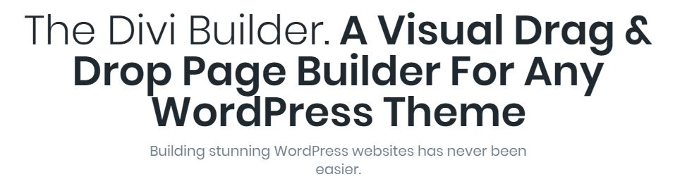 WordPress Page Builders