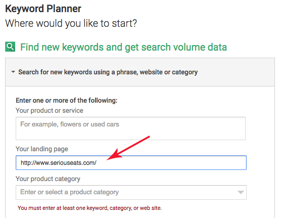 Google Adwords keyword research 1